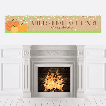 Pumpkin Patch - Fall Baby Shower Decorations Party Banner