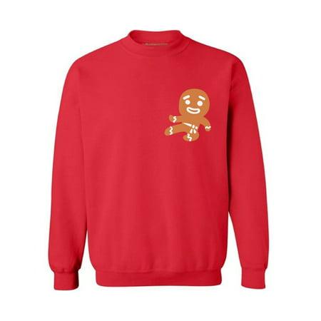 Awkward Styles Christmas Pocket Sweatshirt Gingerbread Ninja Pocket Sweater for Xmas Gingerbread Man Holiday Ugly Sweater Funny Christmas Gifts Ginja Christmas Sweater Christmas Party Outfit (Ugly Sweater Outfits)