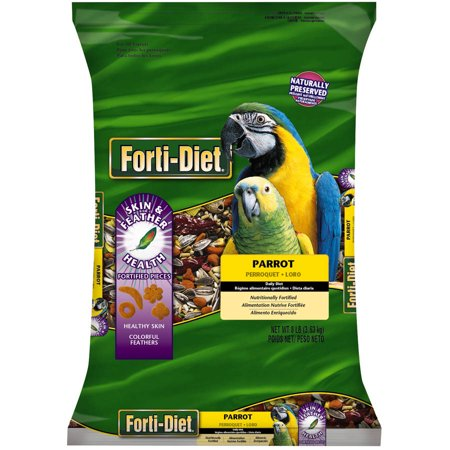 Forti-Diet Parrot Pet Bird Food, 8.0 (Exotic Bird Food)
