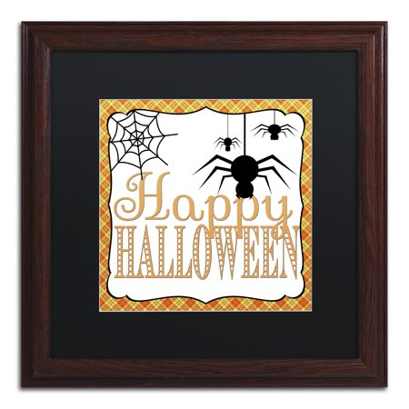 Halloween Frames For Photos (Trademark Fine Art 'Halloween Spiders' Matted Framed Art by Jennifer)