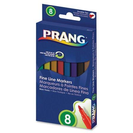 Dixon, DIX80719, Fine Line Markers, 8 / Set Dixon Ticonderoga Permanent Marker