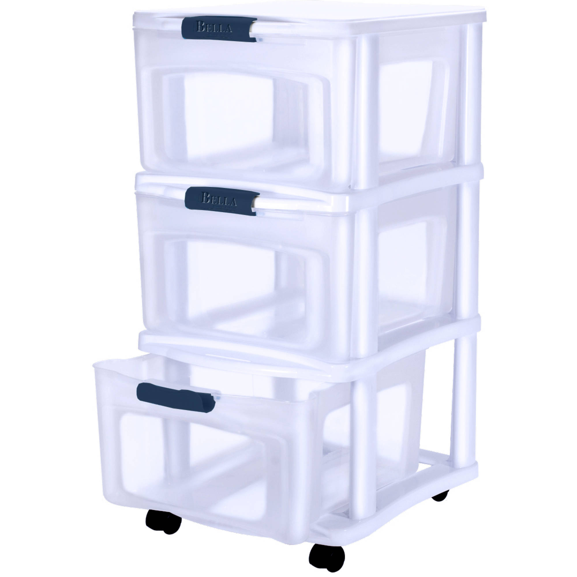 sc 1 st  Walmart.com & Bella Storage Solutions 3-Drawer Locking Cart Medium - Walmart.com
