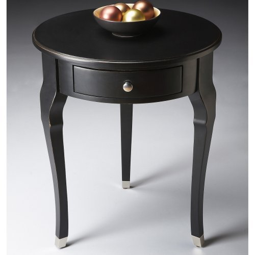 Butler Side Table 26H in. - Black-licorice