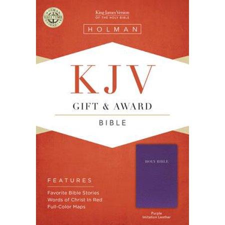 KJV Gift & Award Bible, Purple Imitation Leather ()