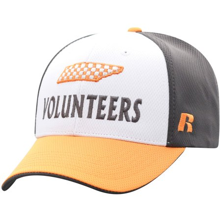 Men's Russell White/Tennessee Orange Tennessee Volunteers Novice Adjustable Snapback Hat - OSFA - Tennessee Volunteers Hat