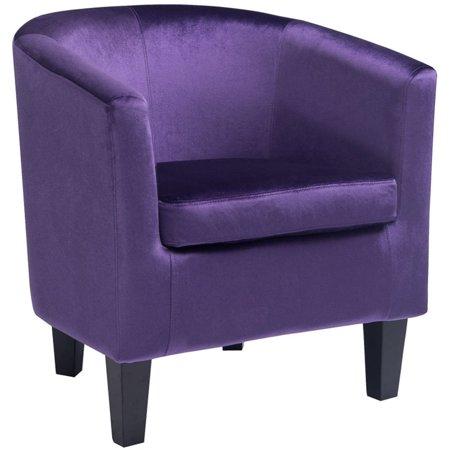 Atlin Designs Velvet Tub Chair in Purple ()