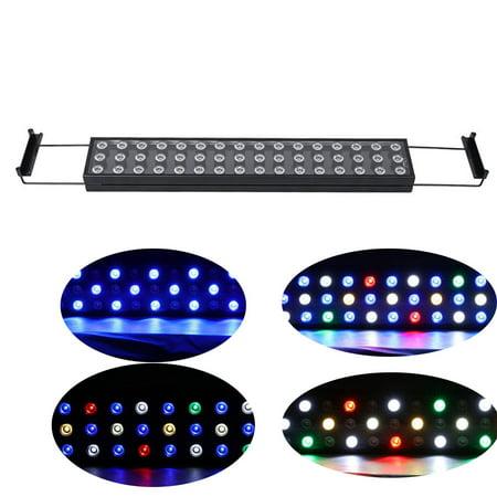 LED Aquarium Light Bar, BEAMNOVA 144W Dimmable Aluminium Aquarium Lumières Strip Full Spectrum avec télécommande pour pousser les récifs coralliens Fish Tank