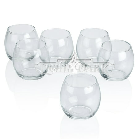 Clear Glass Hurricane Votive Candle  Holders Set of 12 Abstract Votive Candle Holder