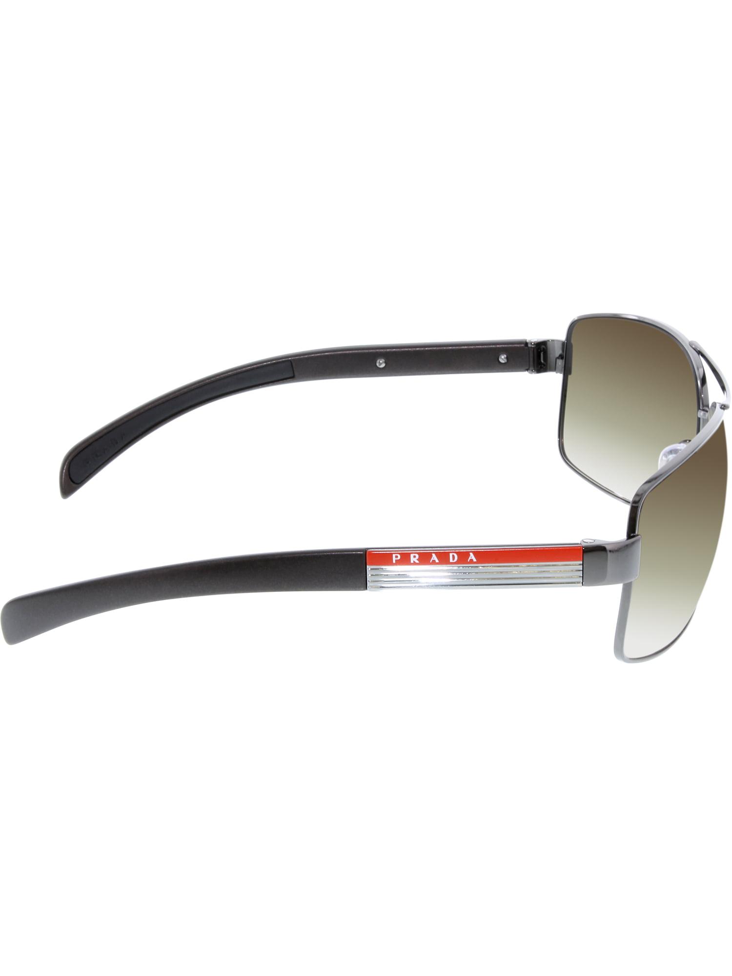 b38428b661c Prada - Prada Men s Gradient PS54IS-1BC3M1-65 Silver Rectangle Sunglasses -  Walmart.com