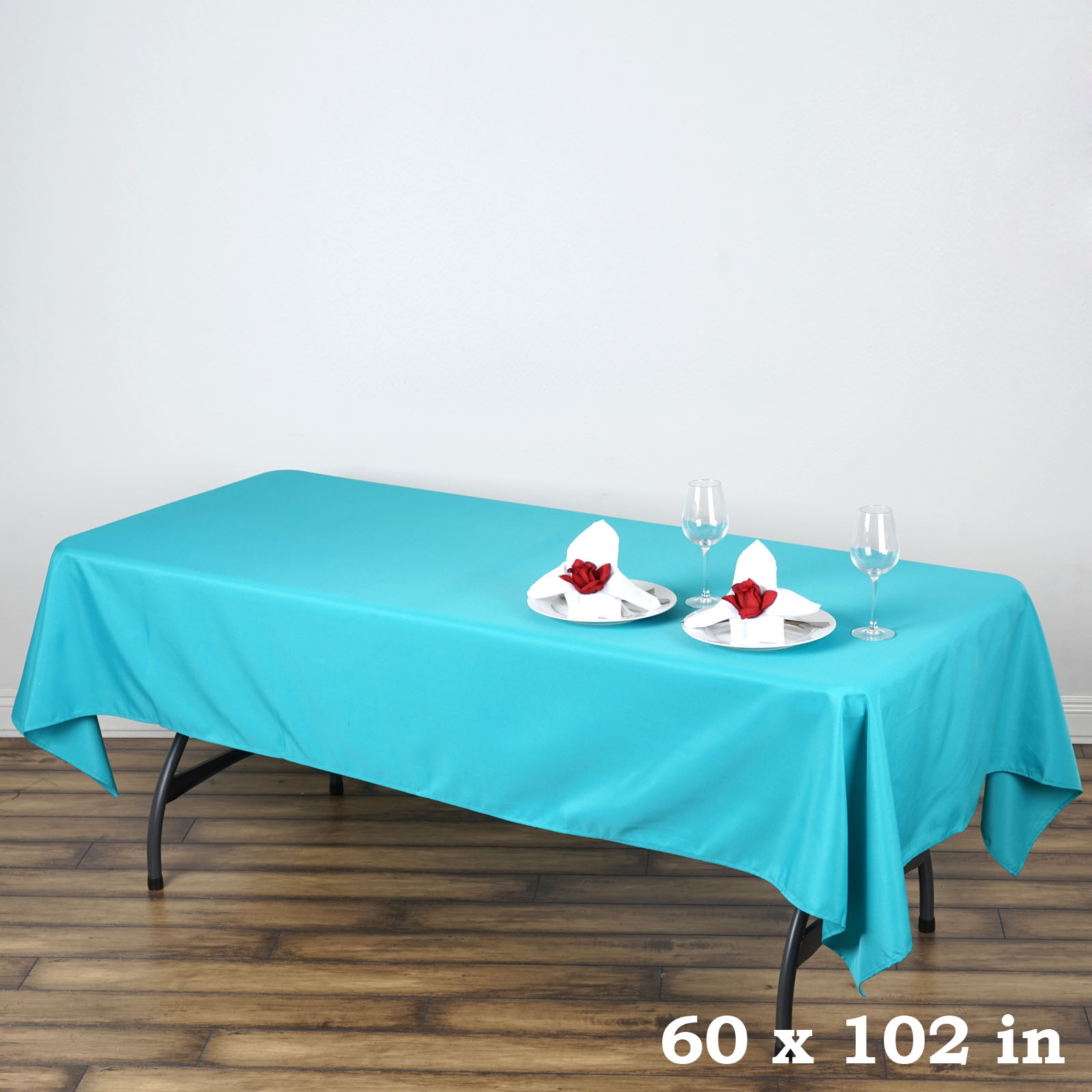 TURQUOISE 60x126 RECTANGLE POLYESTER TABLECLOTH Wedding Catering Kitchen Dinner