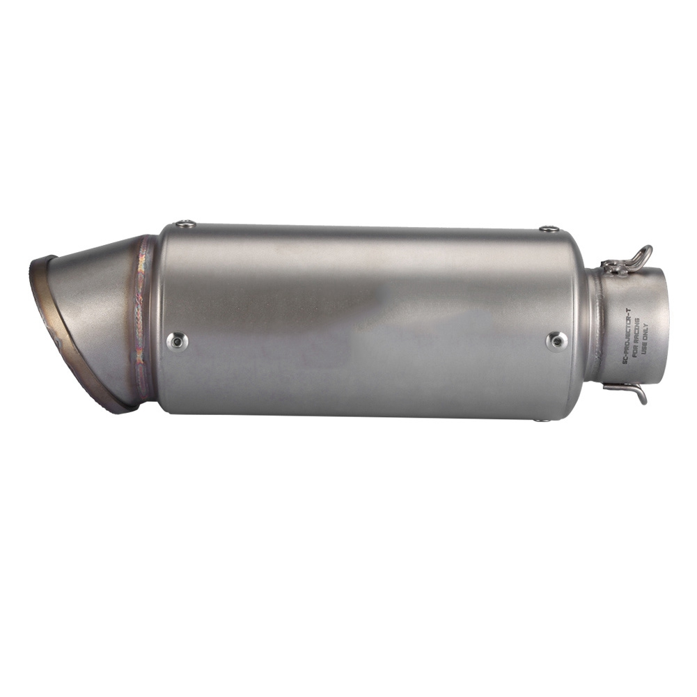 38-51mm Universal Motorcycle Exhaust Pipe Scooter Modified Titanium Shell 245mm