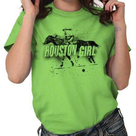 Brisco Brands Texas Houston Girl Country TX Lady Short Sleeve T Shirt - Adult Stores Houston Tx