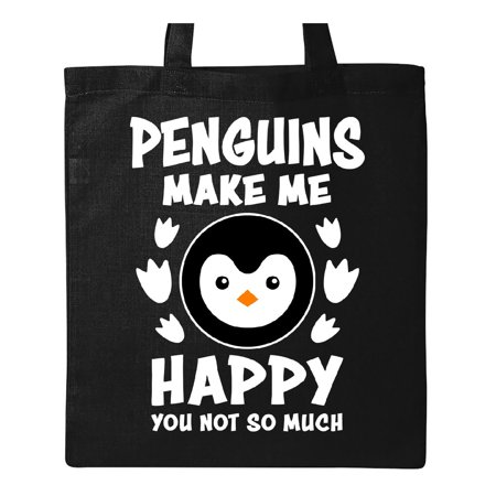 Penguins Make Me Happy You Not So Much Tote Bag Black One Size