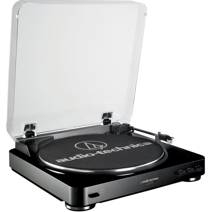 Audio-Technica AT-LP60 Fully Automatic Stereo Turntable System Black by Audio-Technica