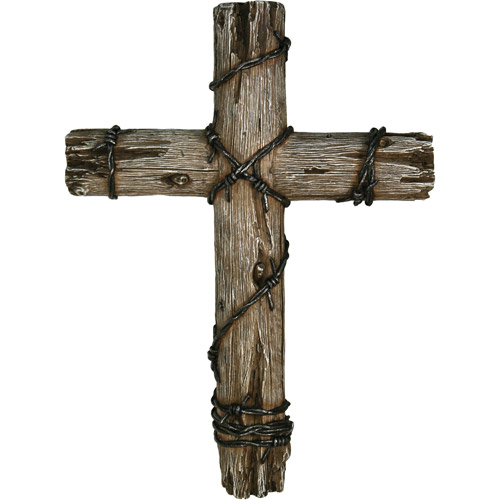 "Rivers Edge Products 14"" Wooden Barbed Wire Cross"
