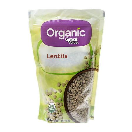Great Value Organic Lentils  16 Oz