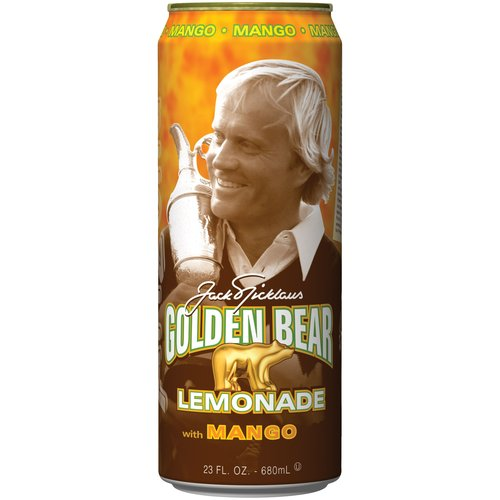 Arizona Tea Golden Bear Lemonade/Mango 23 Oz Big Cans Pack of 24