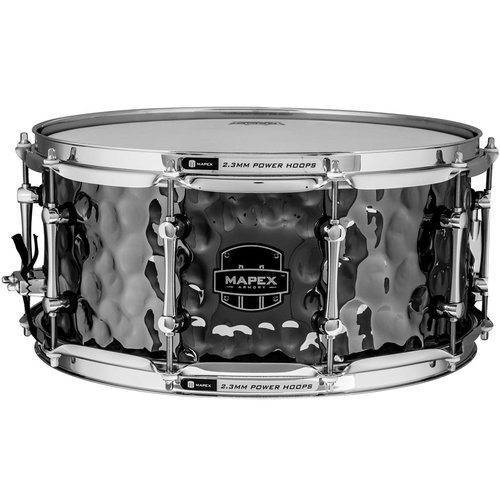 "Mapex Armory 14"" x 6.5"" The Daisy Cutter Snare Drum w/ Chrome Hardware - Hammered Black Chrome Finish"