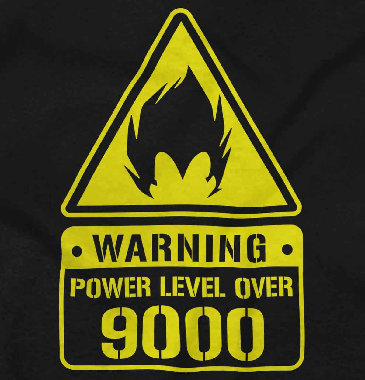 brisco-brands - power level 9000 t-shirt - Walmart com