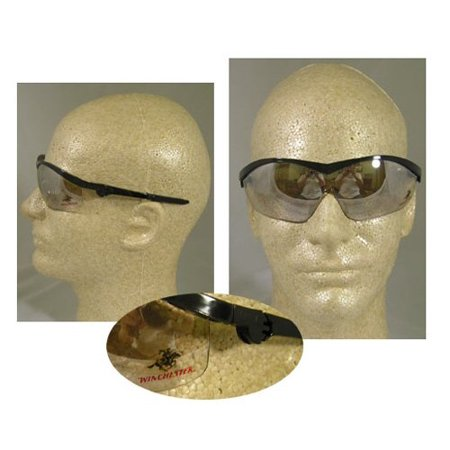 Winchester Safety Glasses - cr win19 blk/i/o clr wincheste, Lens is strong, but lightweight By (Winchester Glasses)