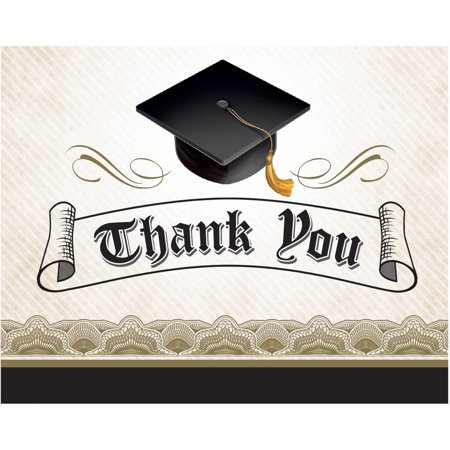 Cap   Gown Thank You Cards  8Pk
