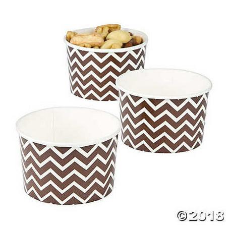 Chocolate Brown Chevron Snack Paper Bowls ()