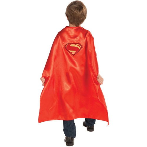Superman Man of Steel Cape Child  Costume, Size: Boys' - One Size