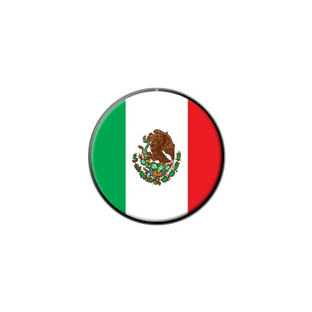 Mexico Mexican Flag Lapel Hat Pin Tie Tack Small Round