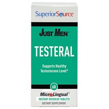 Just Men, Testeral, Supports Healthy Testosterone Levels, 60 Instant Dissolve Tablets, Superior Source