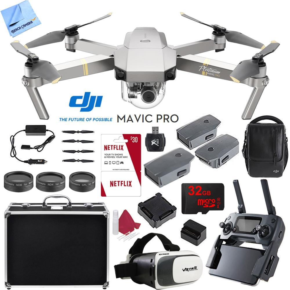 DJI Mavic Pro Platinum 4K Camera Quadcopter Drone 2 Extra Batteries Super Pack by DJI