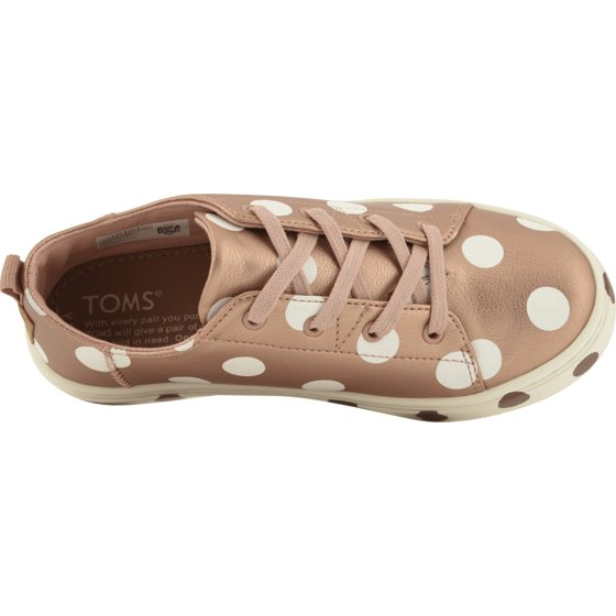 d0a027045c8f3 TOMS - Toms 10012704: Kids Lenny Synthetic Rose Gold/Polka Dots ...