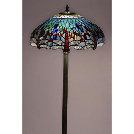 tiffany style dragonfly floor lamp. Black Bedroom Furniture Sets. Home Design Ideas
