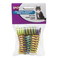 Ethical Pet Heavy Gauge Plastic Colorful Springs Cat Toy, 10 Count