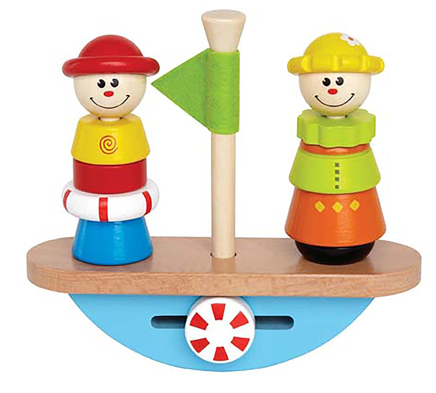 Balance Boat Toddler Wooden Stacking Toy By Hape