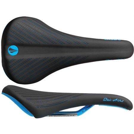 SDG Bel-Air 2.0 saddle, Ti-Alloy rails - blk/cyan -