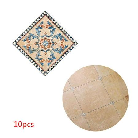 Self Adhesive Wall - 10pcs 3D Diagonal Tile Seam Stickers Film Self Adhesive Floor Wall Decorative Tiles Sticker