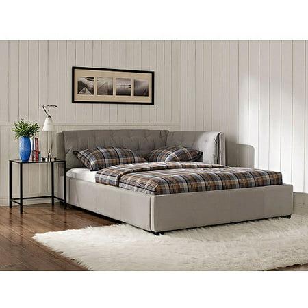 lounge upholstered full bed stone. Black Bedroom Furniture Sets. Home Design Ideas