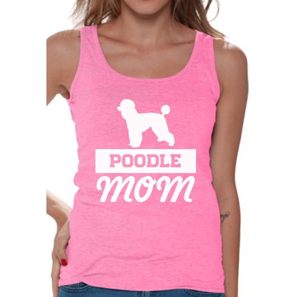 Awkward Styles Women's Poodle Mom Dog Lover Graphic Tank Tops