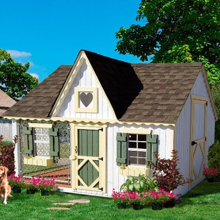 Little cottage company victorian cottage kennel dog house for Country cottage kennel