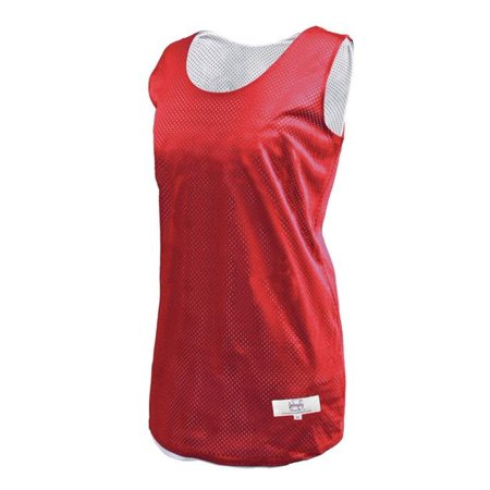 Intensity N2905643MED Womens Polyester Tricot Reversible Tank Top, Scarlet & White - Medium (Tricot Foil)