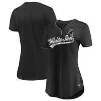 Women's Majestic Black Chicago White Sox Memorable Season TX3 Cool Fabric V-Neck T-Shirt