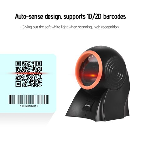 Aibecy Desktop Hands-free 1D 2D QR Barcode Scanner with USB Cable Omni-directional Bar Code Reader Adjustable Scanning Head for Mobile Payment Supermarket Retail Store Warehouse - image 2 of 7