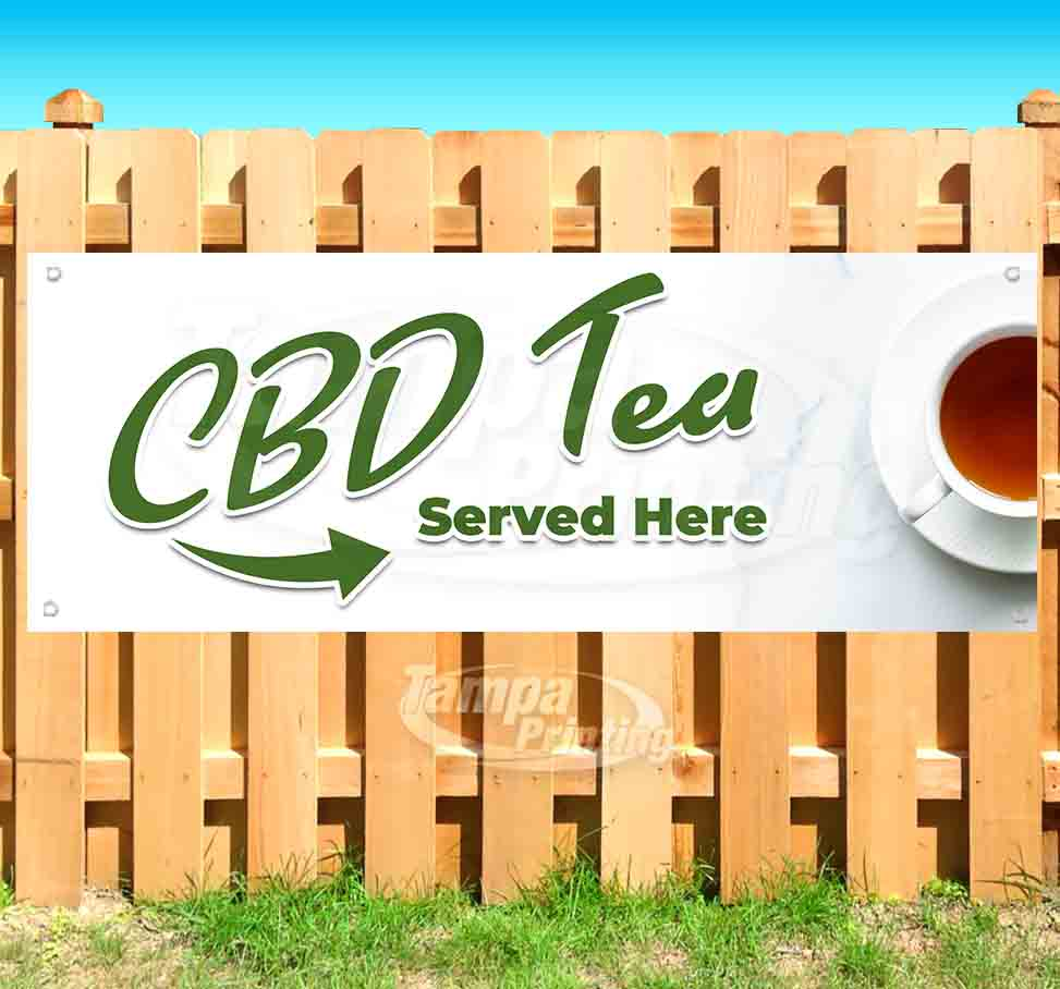 New Advertising Store Many Sizes Available Flag, CBD Products Sold Here 13 oz Heavy Duty Vinyl Banner Sign with Metal Grommets