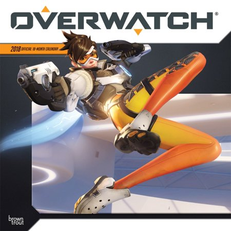 Overwatch 2018 12 X 12 Inch Monthly Square Wall Calendar  Video Game Multiplayer Shooter Blizzard Entertainment