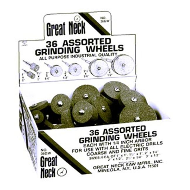 Great Neck Saw 36 Pc Grinding Wheels  36GWE - Pack of 36