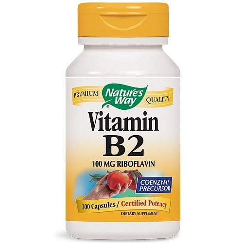 Natures Way Natures Way  Vitamin B2, 100 ea