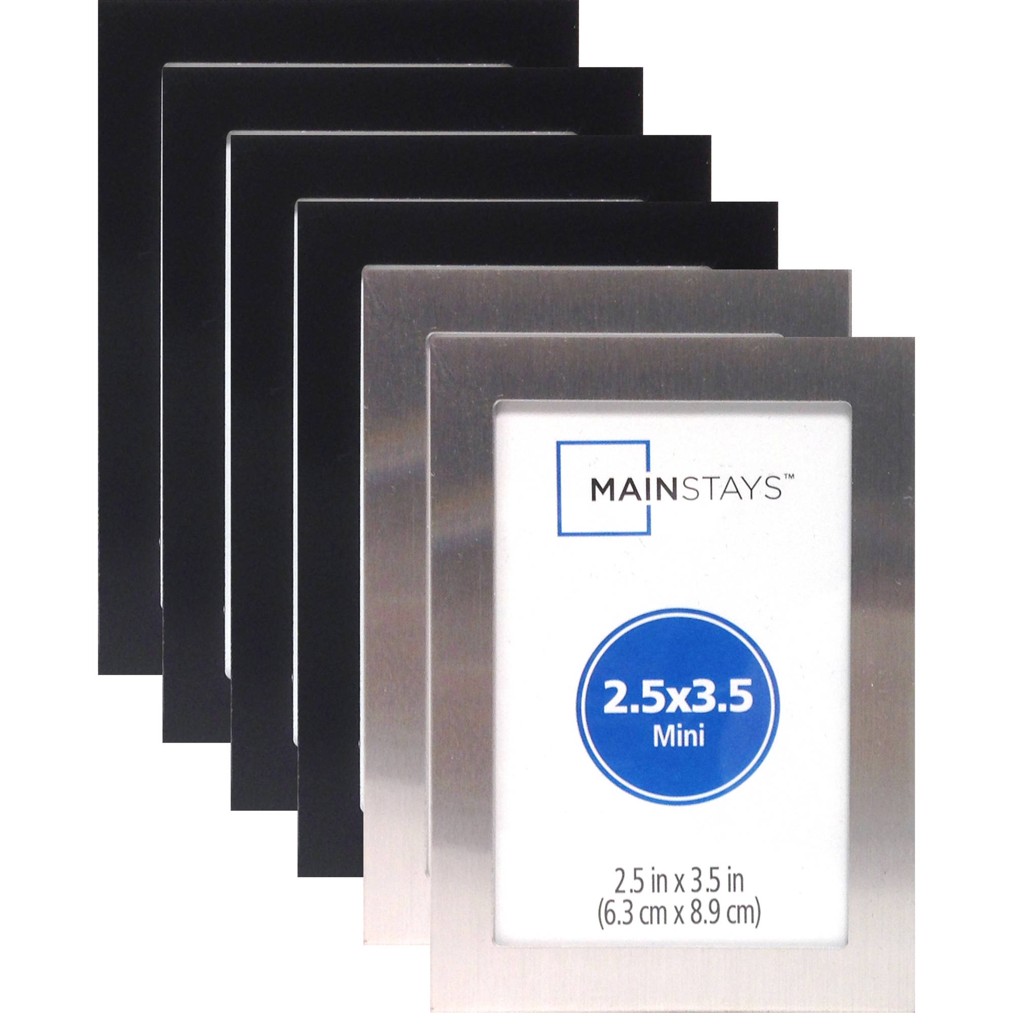 25 x 35 metal mini frame assortment set of 6 4 black and 2 silver walmartcom - Mini Frame