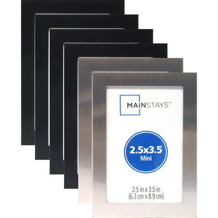 25 X 35 Metal Mini Frame Assortment Set Of 6 4 Black And 2