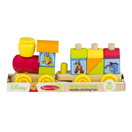 Disney Winnie The Pooh Wooden Stacking Train, 14.0 (Disney Toy Train)