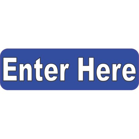 10x3 Blue Enter Here Magnet Vinyl Magnetic Business Sign Decal Door Wall